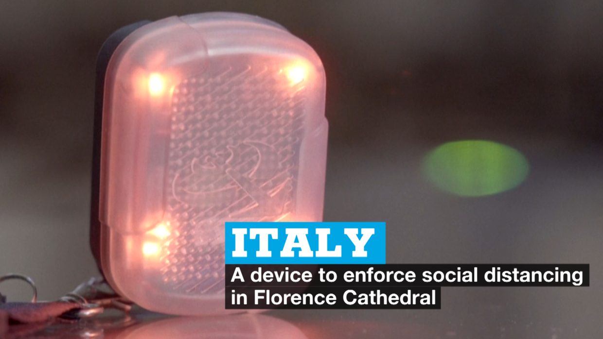 Photo of Italy: A device to enforce social distancing in Florence Cathedral