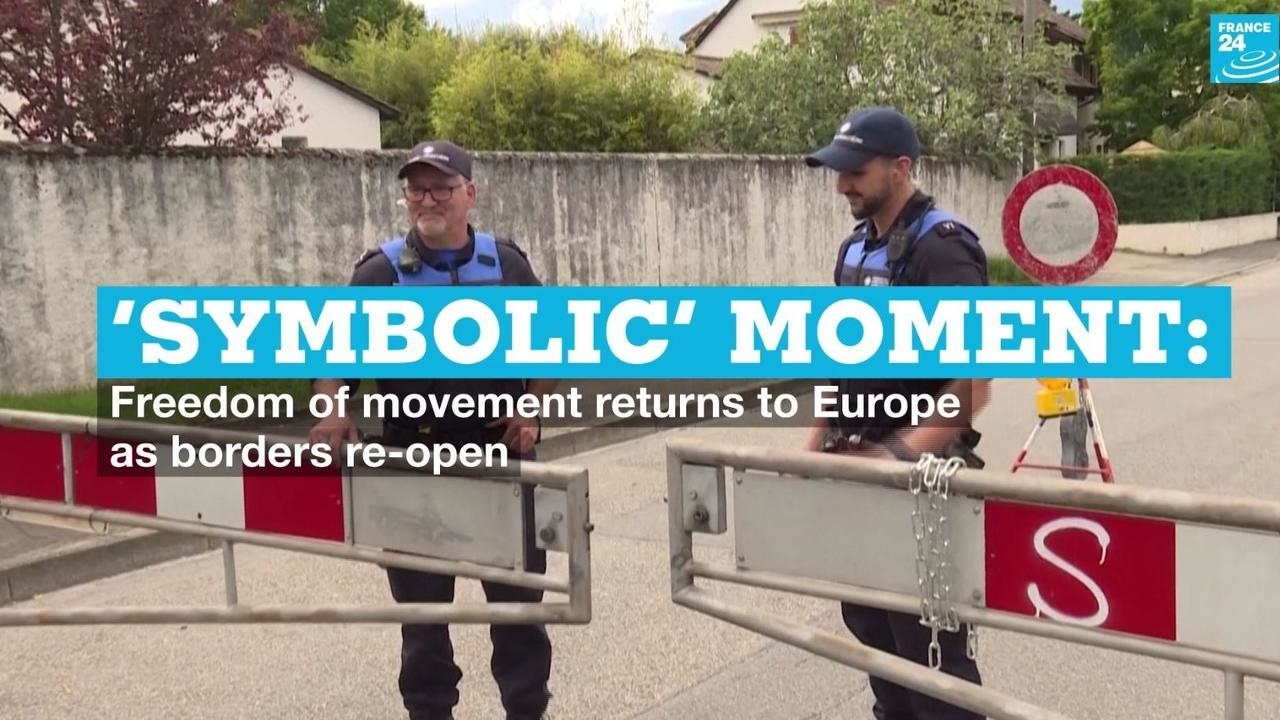 Photo of Symbolic moment: Freedom of movement returns to Europe as borders re-open