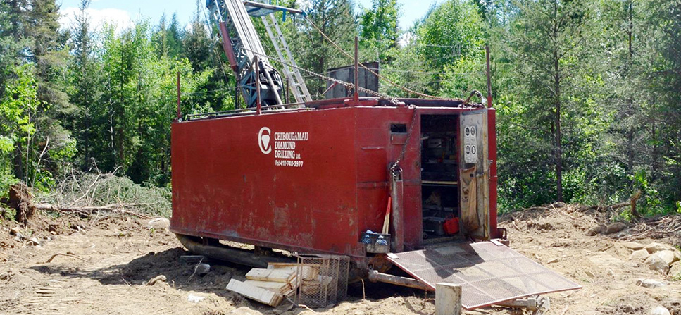 Photo of Chase Mining has diamond drill spinning at Lorraine Gold Project