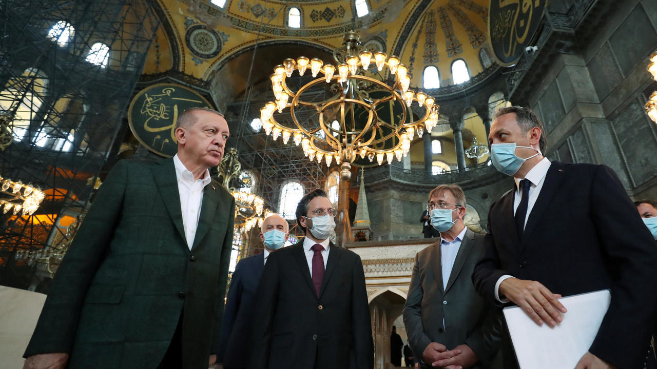 Photo of Turkey's Erdogan visits Hagia Sofia after controversial reconversion to mosque