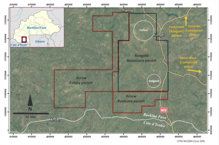 Photo of Arrow Minerals begins Roxgold earn-in agreement for Hounde South Gold Project