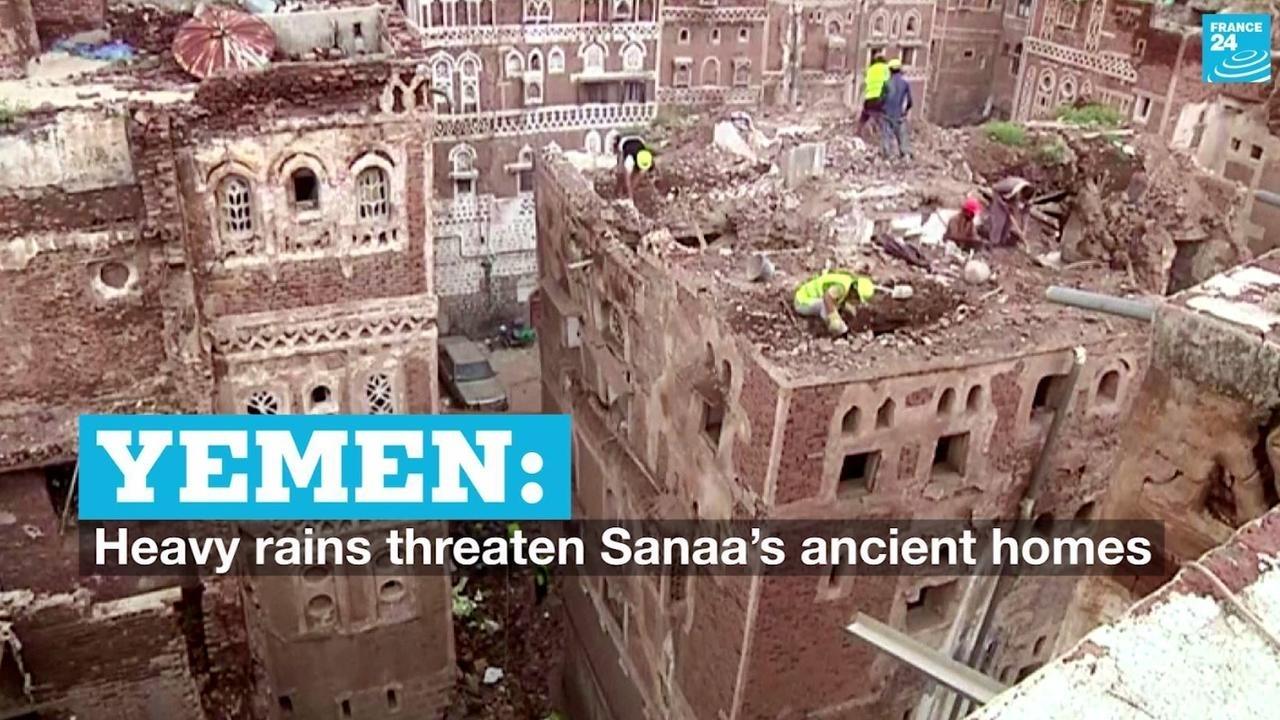 Photo of Yemen: Heavy rains threaten Sanaas ancient homes