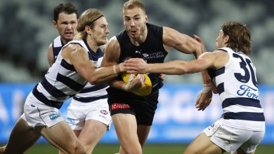 Photo of Geelong Cats pip Brisbane Lions by one point at Kardinia Park in AFL thriller