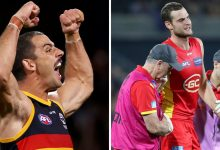 Photo of AFL live ScoreCentre: Adelaide vs Gold Coast, Western Bulldogs vs North Melbourne