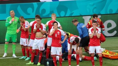 Photo of Christian Eriksen, Danish Team Captain, Collapses On Field At The Euros