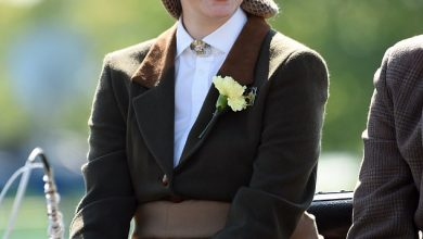 Photo of 'Growing up to a beautiful young woman': Lady Louise Windsor wears Philip's jacket at show