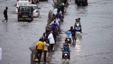 Photo of Indian rivers swell after heavy rains flood residential areas
