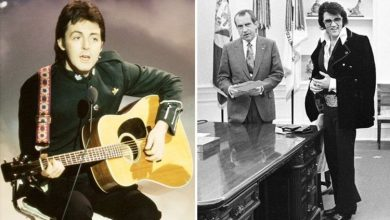 Photo of 'Elvis was like God' said McCartney when The Beatles met The King, Lennon did NOT agree